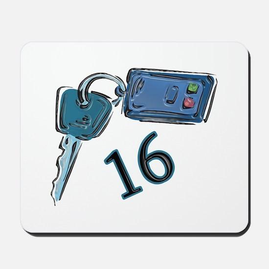 16th B-day Car Keys Mousepad