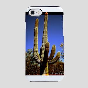 Saguaro against Blue Sky iPhone 7 Tough Case