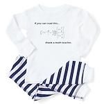 Thank A Math Teacher Toddler Pajamas