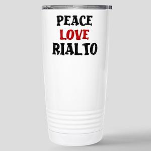 Peace Love Rialto Stainless Steel Travel Mug