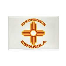 I'd Rather Be In Espanola Rectangle Magnet