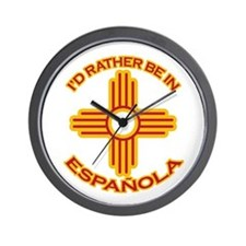 I'd Rather Be In Espanola Wall Clock