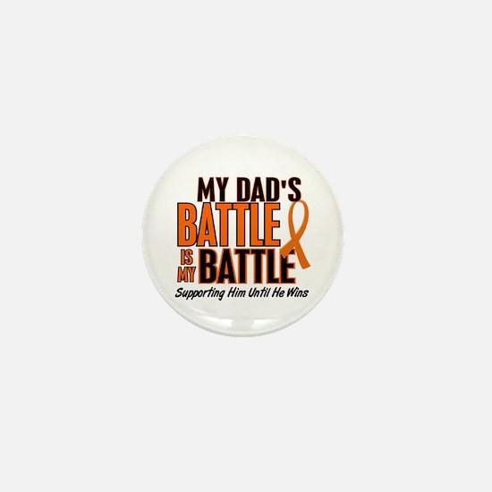 My Battle Too (Dad) Orange Mini Button