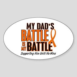 My Battle Too (Dad) Orange Oval Sticker