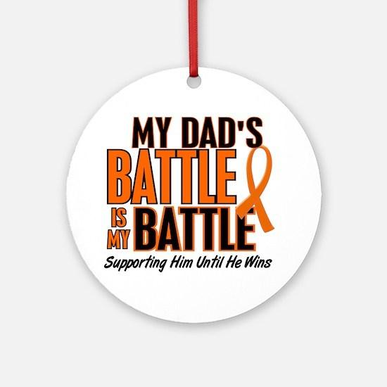 My Battle Too (Dad) Orange Ornament (Round)