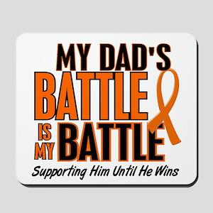 My Battle Too (Dad) Orange Mousepad