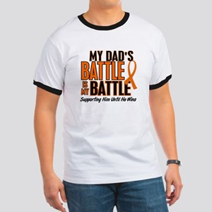 My Battle Too (Dad) Orange Ringer T