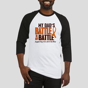 My Battle Too (Dad) Orange Baseball Jersey