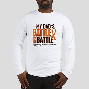 My Battle Too (Dad) Orange Long Sleeve T-Shirt