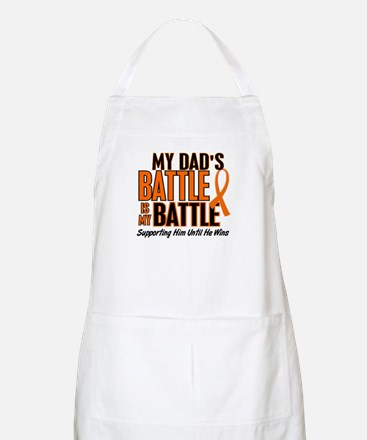 My Battle Too (Dad) Orange BBQ Apron