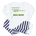 Hello World Toddler Pajamas