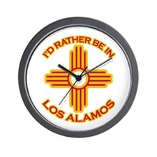 I'd Rather Be In Los Alamos Wall Clock