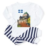 Frontenac Castle and Flag Toddler Pajamas