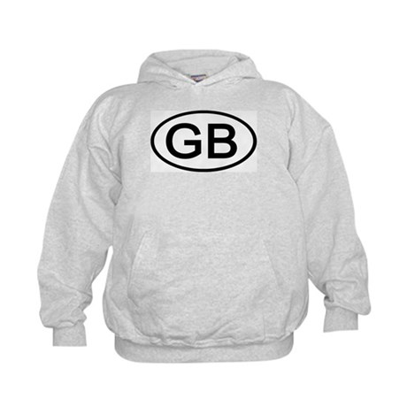 Great Britain - GB - Oval Kids Hoodie