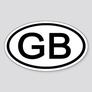 Great Britain - GB - Oval Oval Sticker