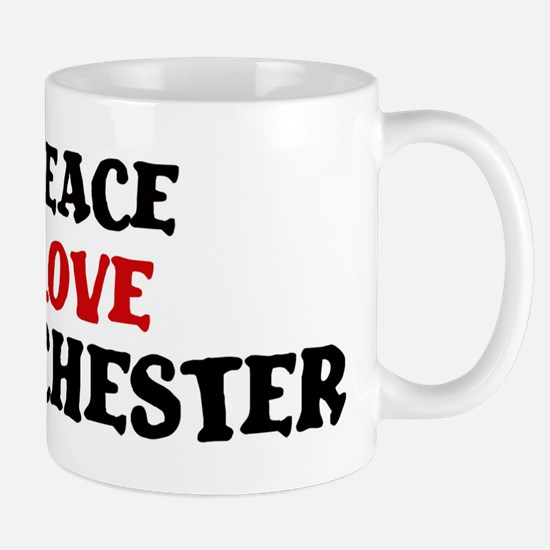Peace Love Manchester Mug