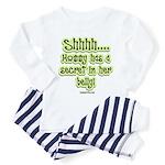 Secret in moms belly Toddler Pajamas