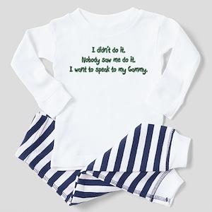 Want to Speak to Gammy Toddler Pajamas 3756cd796