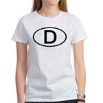 Germany - D - Oval Women's T-Shirt