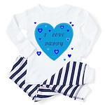 I Love Daddy Baby Pajamass