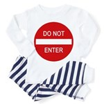 Do Not Enter Sign Toddler Pajamas