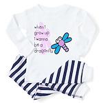 I wanna be a dragonfly Toddler Pajamas