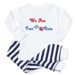 Two Cute  Toddler Pajamas (red/blue)
