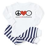 Peace, Love & Breastfeeding Toddler Pajamas