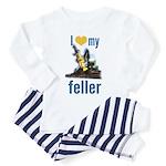 I Love My Feller Toddler Pajamas