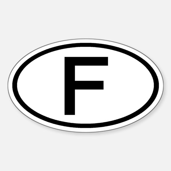 France - F - Oval Oval Decal