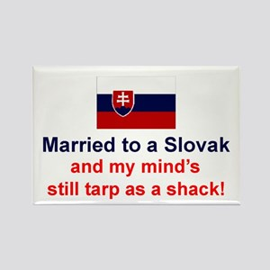 Married To A Slovak Rectangle Magnet