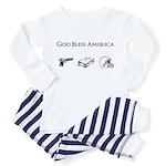 God Bless America: Guns, God Toddler Pajamas