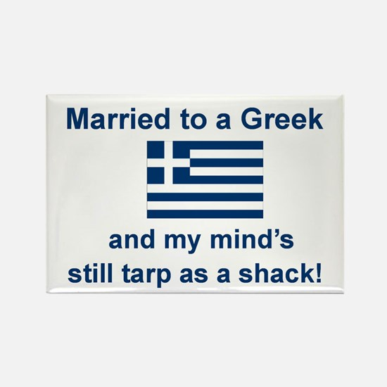 Married To A Greek Rectangle Magnet
