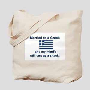 Married To A Greek Tote Bag