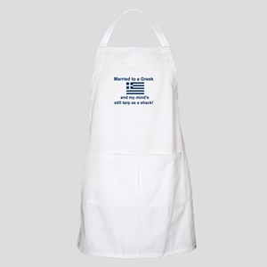 Married To A Greek BBQ Apron