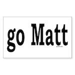 go Matt Rectangle Sticker