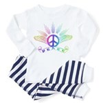 Peace Sign with Wings Rainbow Toddler T-Shi
