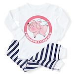 Inspirational Flying Pig Toddler Pajamas