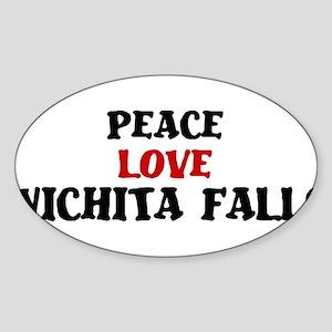 Peace Love Wichita Falls Oval Sticker