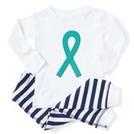 Teal Ribbon Toddler Pajamas