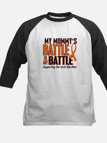 My Battle Too (Daddy) Orange Kids Baseball Jersey