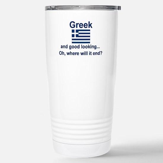Good Looking Greek Stainless Steel Travel Mug