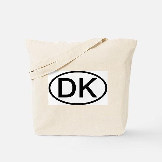 Denmark - DK - Oval Tote Bag