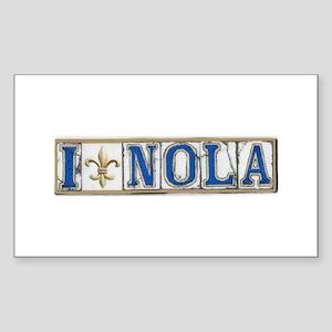 Love NOLA Rectangle Sticker