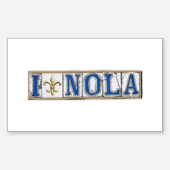 Love NOLA Rectangle Decal