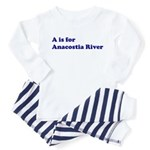 A is for Anacostia River Toddler Pajamas