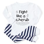 Fight Like A Cherub Toddler Pajamas