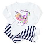 Xiangyang China Map Toddler Pajamas