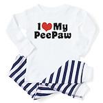 I Love My PeePaw Toddler Pajamas