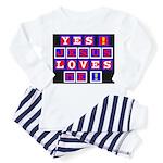 Jesus Loves Me!  Toddler Pajamas